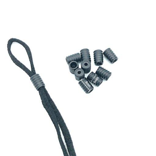 Elastic cord stopper toggles, cord adjuster Black