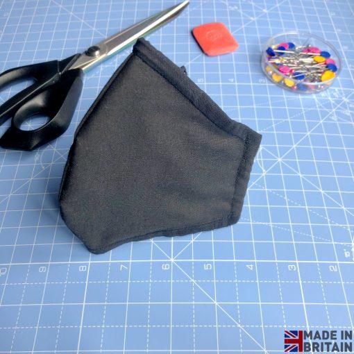 Unisex Washable & Reusable Face Mask Black