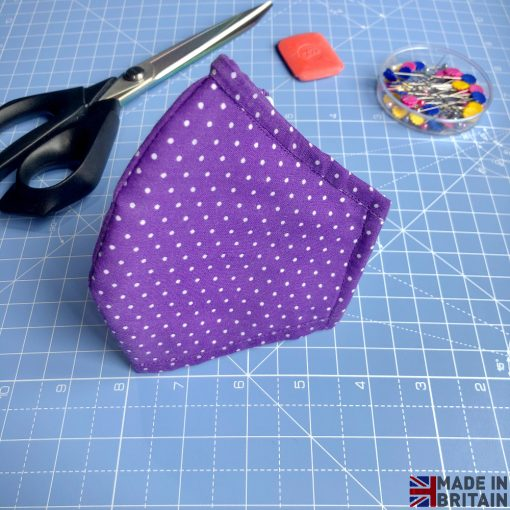 Unisex Washable & Reusable Face Mask Purple Dotted
