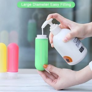 Refillable Silicone Travel Bottles 89ml_3oz Demonstration
