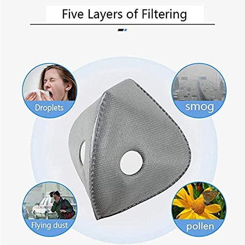 Sports masks PM2.5 activated carbon filter Usage