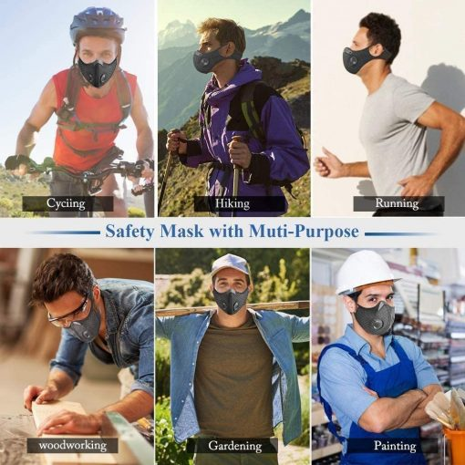 Sports masks PM2.5 activated carbon filter sports types